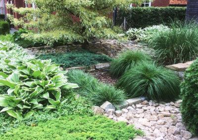 Bepflanzungen Grünstreifen Wohngebiet