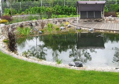 Gartenpflege Rasen Gartenteich