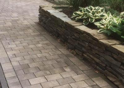 Pflastersteine Weg Steinmauer