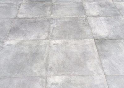Terrasse Vorstufe Pflastersteine