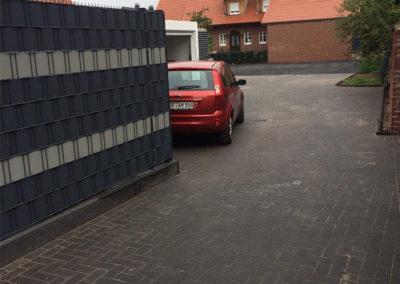 Terrasse Hof Auto Pflastersteine